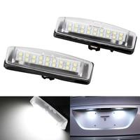 2X White 6000k Car LED License Plate Lights 12V Number Plate Lamp No Error For Lexus