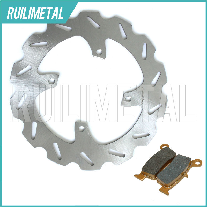 MX Offroad New Rear Brake Disc Rotor Pads Set for HONDA CR80R 92-02 CR85R 03 04 05 06 07 CR 80 85 R 2003 2004 2005 2006 2007 mfs motor motorcycle part front rear brake discs rotor for yamaha yzf r6 2003 2004 2005 yzfr6 03 04 05 gold