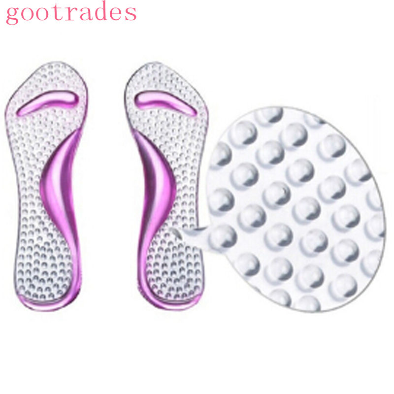 Silicone Gel Pads Arch Metatarsal Support Massage Non-Slip High-Heels Insoles HS