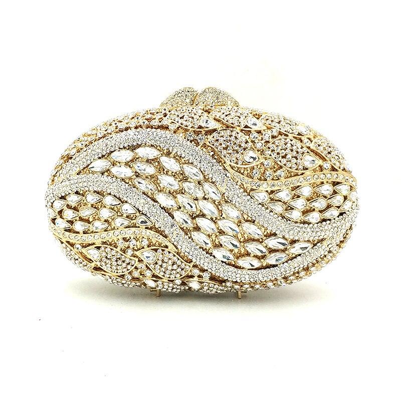 Bagaj ve Çantalar'ten Üstten Saplı Çanta'de Moda kadınlar akşam parti çanta diamonds zarif çantalar lüks debriyaj gelin düğün parti yumurta şekli kristal çantalar çanta'da  Grup 1