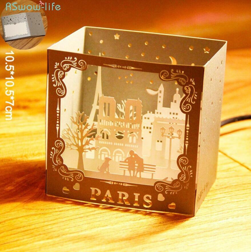 Three-dimensional Greeting Card Paris Scenery Card 3D Three-dimensional Ornaments Creative Gifts