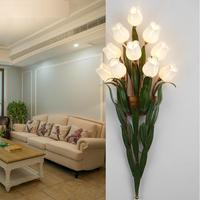 Flowers bouquet LED wall lights stairs with walls fashion retro continental lounge led wall lampsbedside bedroom bed balcony