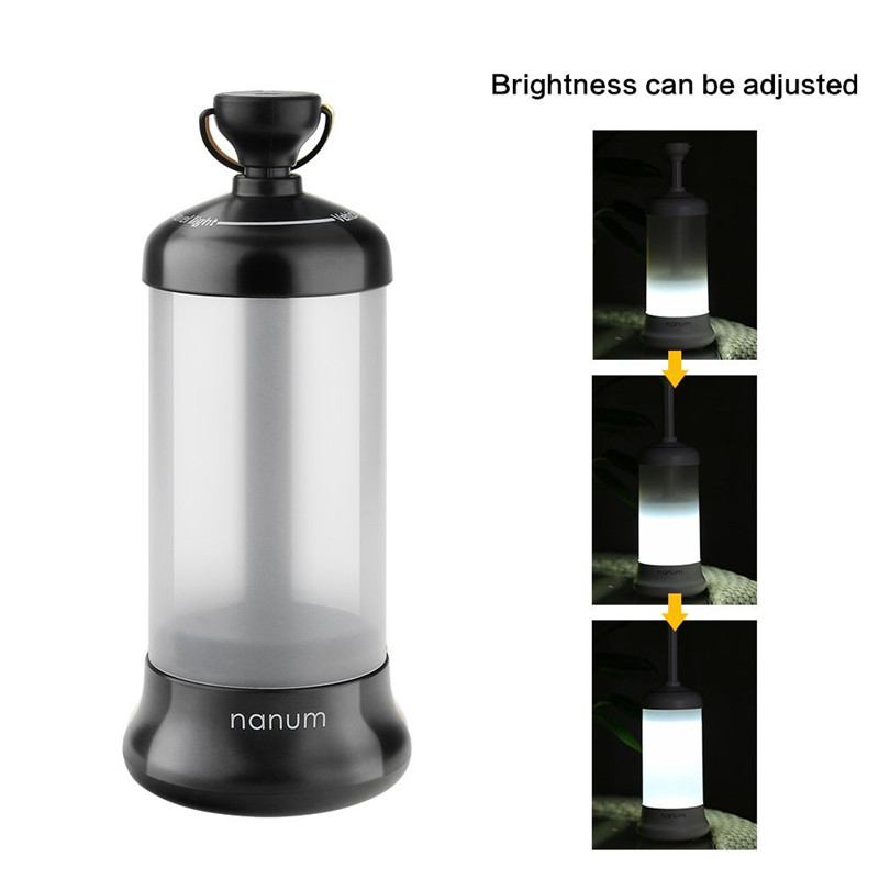 Lumiparty Rechargeable Camping Lantern Portable Outdoor LED Flashlight Tent Light Vehicle-mounted Travel Lamp Design for Fishing