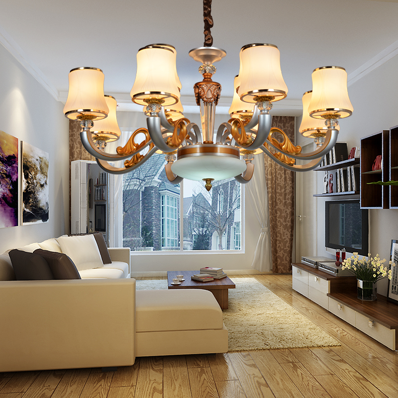 Bedroom chandelier modern household chandelier restaurant livingroom lobby round light fixtures hand blown art glass chandelier
