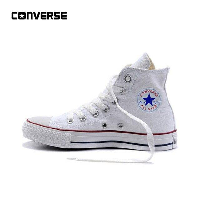 Nueva llegada Original Converse All Star Unisex clásicos de lona zapatos de skate zapatos alta Anti-deslizante Sneaksers