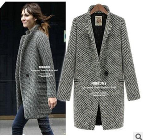 Online Shop 2013 autumn winter ladies grey ,black high quality ...
