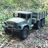 Uzaktan kumanda araba askeri kamyon WPL DIY/hazır-git B-16 1:16 4WD RC askeri kamyon kablosuz uzaktan kumanda araba çocuk oyuncak