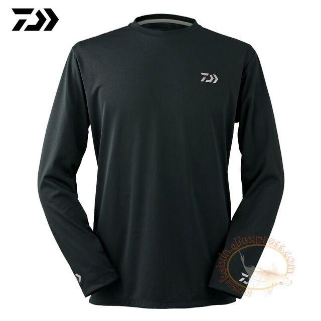 187d24d9d0d3 2019 Daiwa Fishing Clothing Long Sleeve XS-5XL Fishing Shirts Summer  Quick-Drying Breathable Anti-UV Sun Protection T Shirt