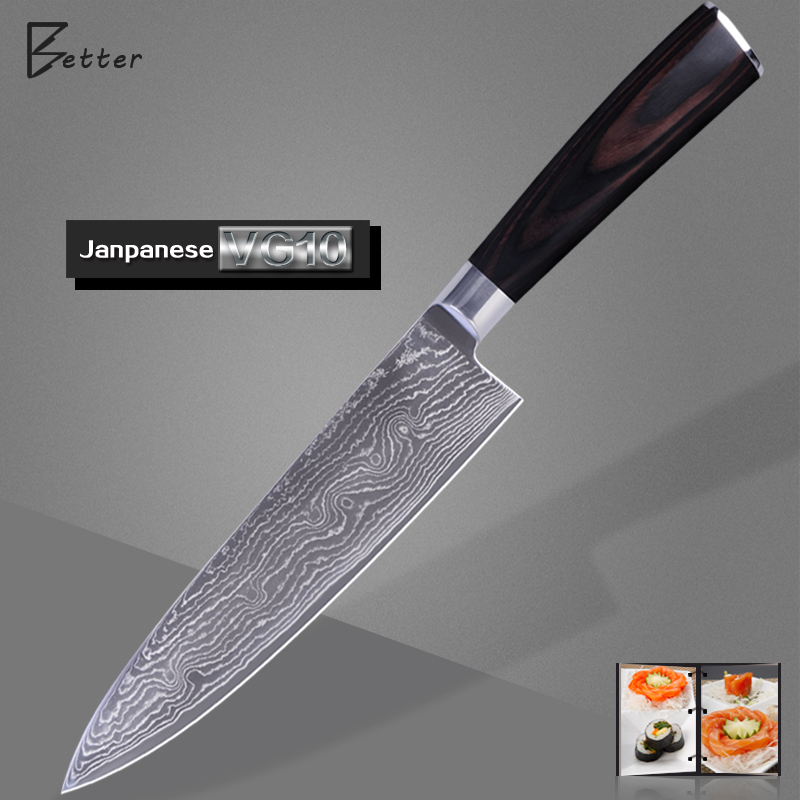 Good Quality Kitchen Knives: Good Quality Damascus Knife 8 Inch Chef Kitchen Knife VG10