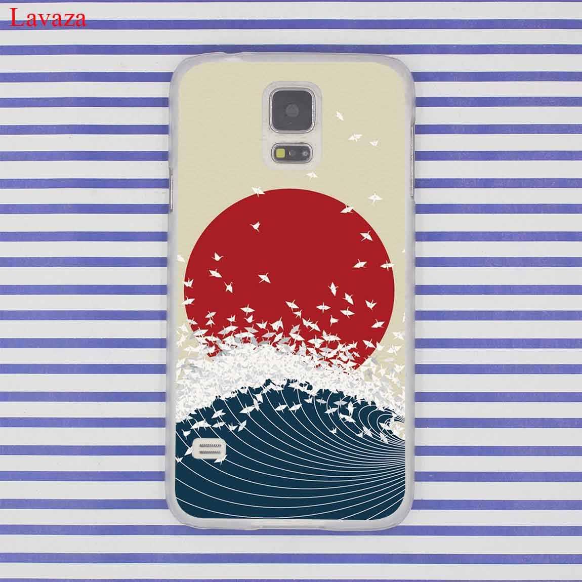 Onda arte japonês verde clássico caso de telefone para samsung galaxy s20 ultra s10 lite s10e s6 s7 borda s8 s9 plus a51 a71 a81 a91