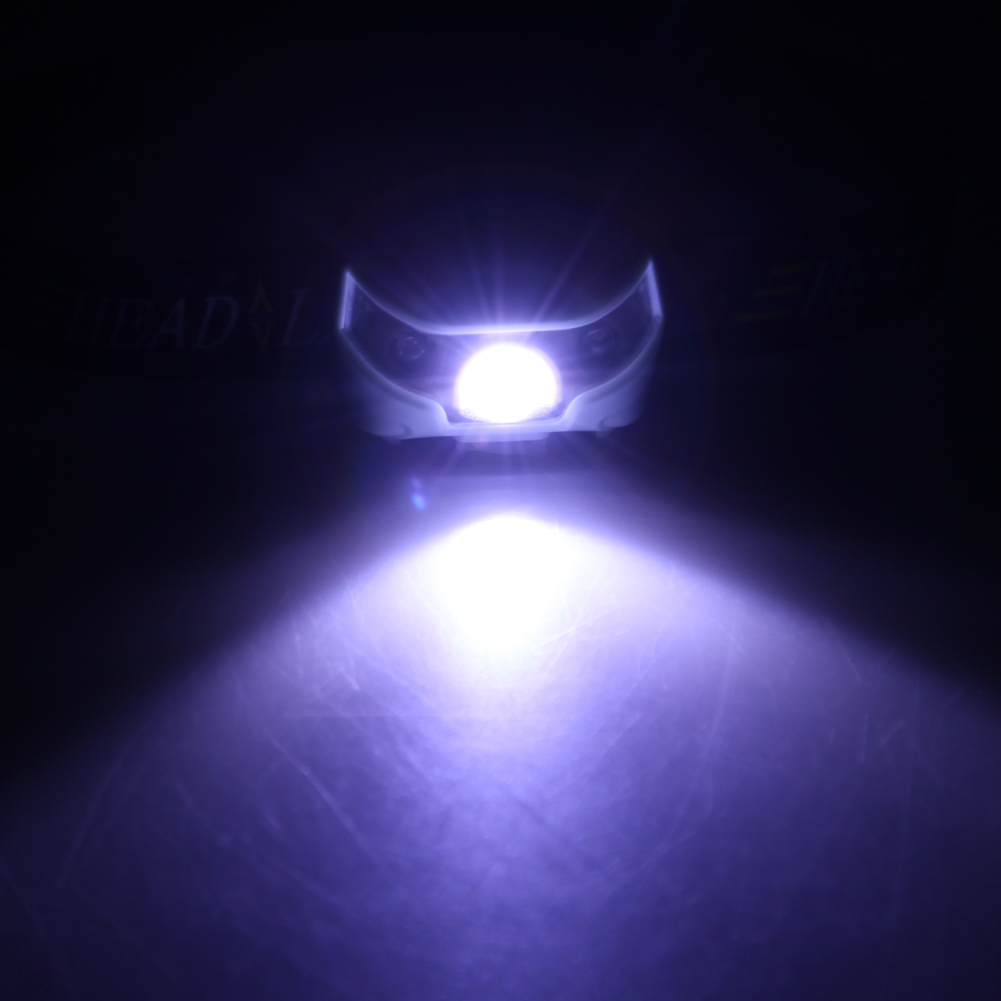 5 modes 3000LM Mini Q5 + 2 Red LED 3000LM Mini Headlamp Headlight Flashlight Torch Lamp