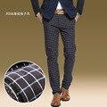 HGYS новый мужской стрейч клетчатые брюки осенью и зимой 2017 Моды, развивать нравственность досуг брюки