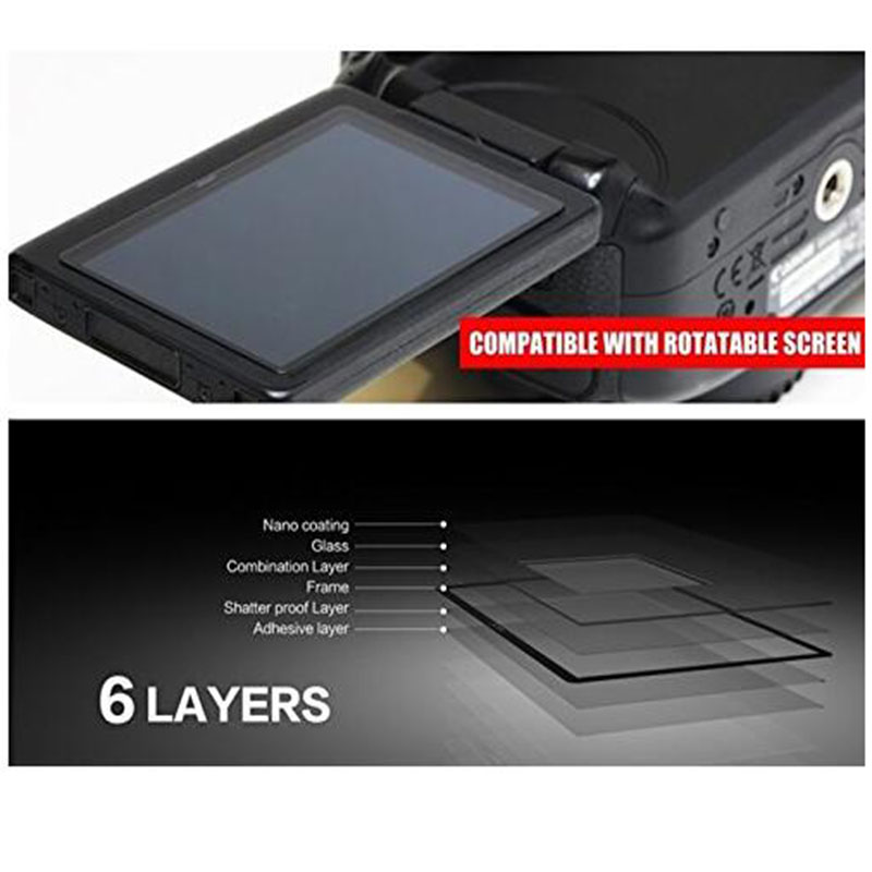 Camera LCD Screen Protector LARMOR GGS Self-Adhesive Optical Glass for nikon D810 camra