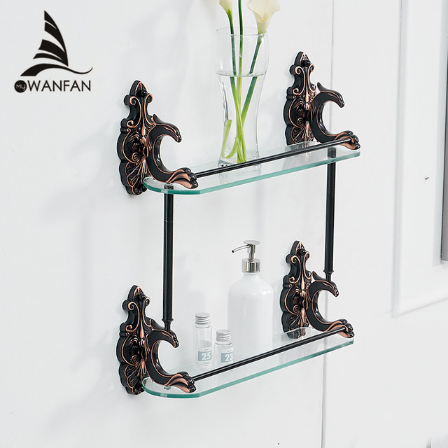 Bathroom Shelves Brass Shelves for bathroom Tempered Glass Shelf ...