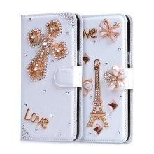 Роскошные Чехлы для Alcatel Pop Star 3 г OT5022 5022D 5.0 «Бумажник кожаный чехол Filp слот для карт Стенд diamond телефона