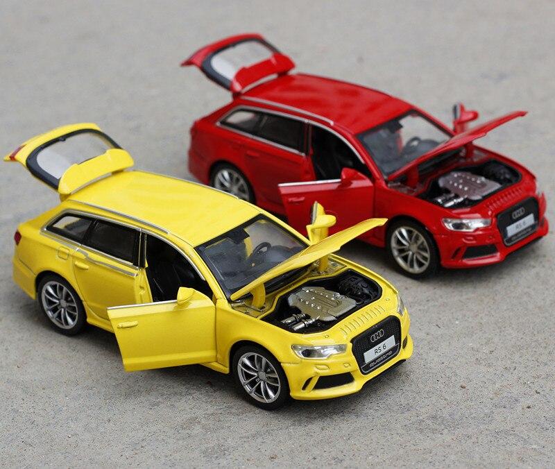 1:32 Escala Diecast Metal de la Aleación de Lujo SUV Modelo de Coche audi rs6 qu