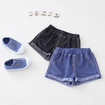 2020 moda dla niemowląt chłopcy dziewczęta spodenki dżinsowe letnie ubrania dla dzieci spodnie dla dzieci spodnie chłopięce cienkie szorty z kieszeniami tanie i dobre opinie PLAVKY COTTON CN (pochodzenie) Pasuje prawda na wymiar weź swój normalny rozmiar ETDK001 Na co dzień Sznurek Drukuj