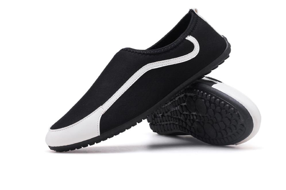 La Social En De Loisirs Vieux Nouvelle Version Toile Chaussures Garçon Haricots Coréenne blanc Pékin 2018 Noir Hommes Paresseux Été Tissu rouge nwcBXqAB