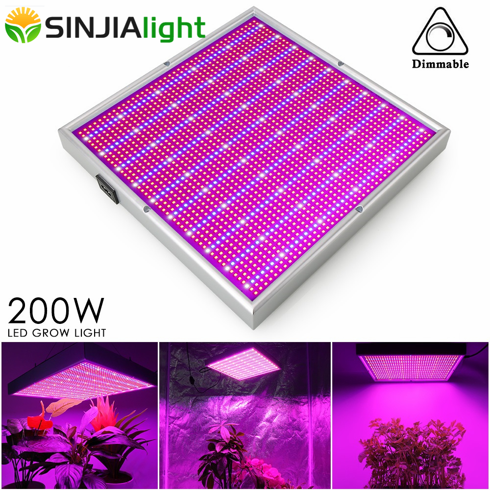 200W LED Grow Light Full Spectrum Dimmable 2000LEDs Panel Phyto Lamp for Plants Growth Hydroponics Flowers Grow Tent Dimmer200W LED Grow Light Full Spectrum Dimmable 2000LEDs Panel Phyto Lamp for Plants Growth Hydroponics Flowers Grow Tent Dimmer