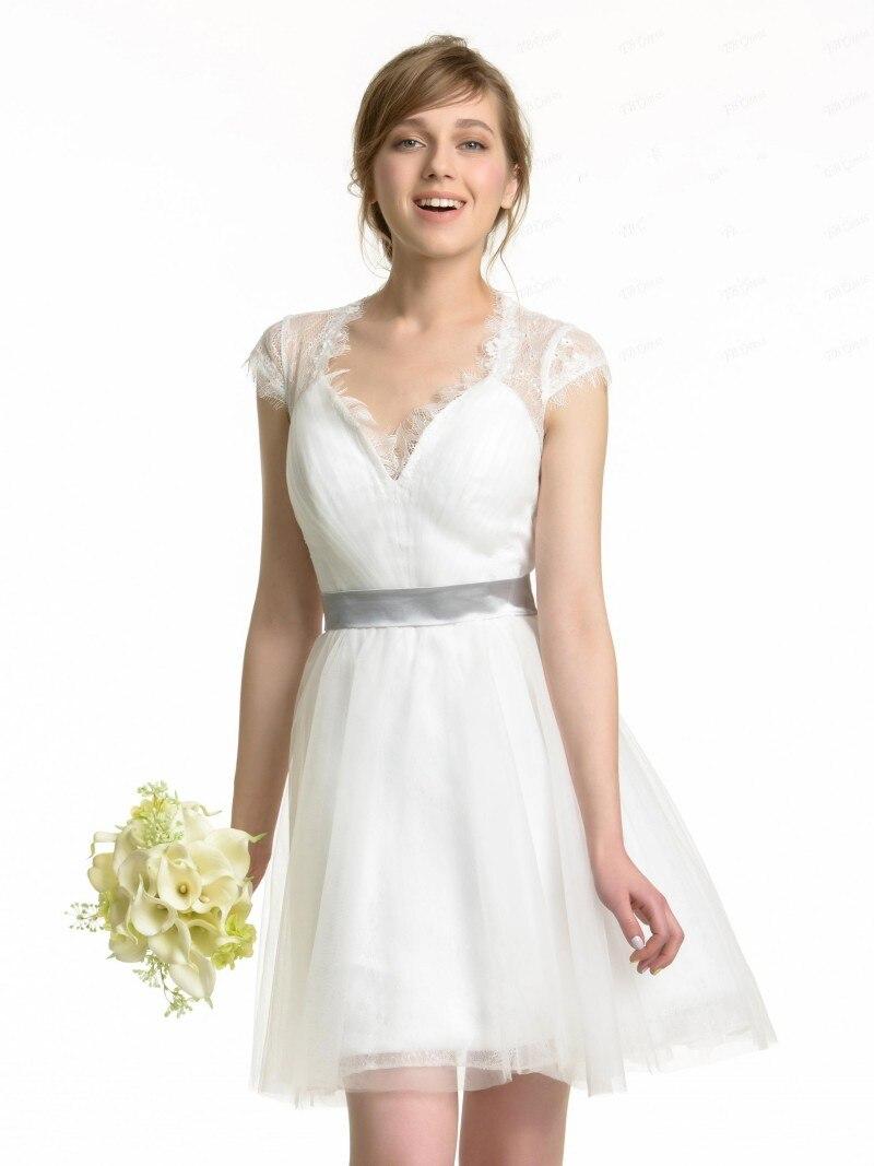 Aliexpress.com  Buy robe de soiree 2016 Top Selling Sheer Lace Back Short  A Line Mini Bridesmaid Dresses 2017 Wedding Party Dress Graduation Dress  from