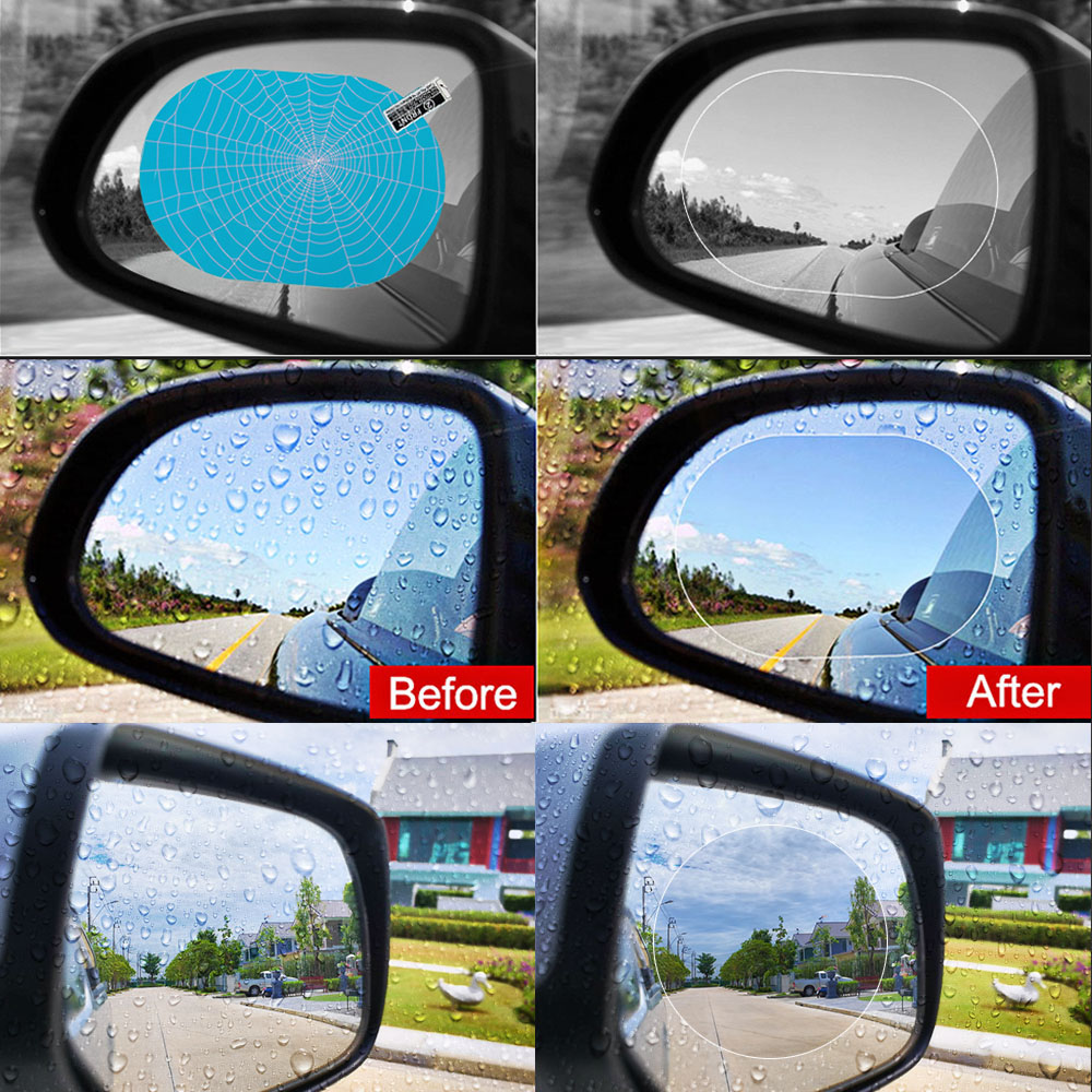 Image 3 - Car anti Fog Rainproof Hydrophobic Rearview Mirror Film For Toyota Corolla Camry Prado Avensis Yaris Hilux Prius Land Cruiser-in Car Tax Disc Holders from Automobiles & Motorcycles