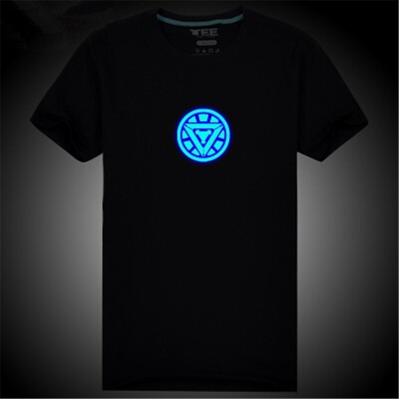 Ironman t shirt,iron man clothes boys,iron man t shirt,iron man tee shirts,blue glow in the dark teen clothing DC742