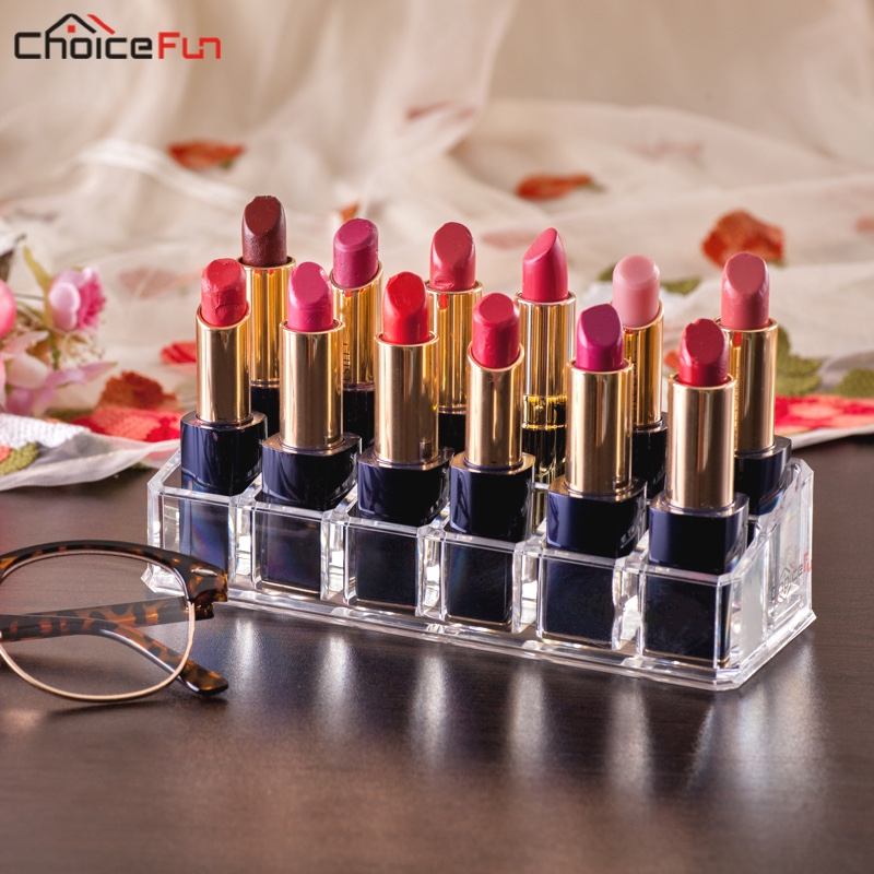 Lipstick-Holder Lipgloss Acrylic Transparent Clear for 12-Grids CHOICEFUN