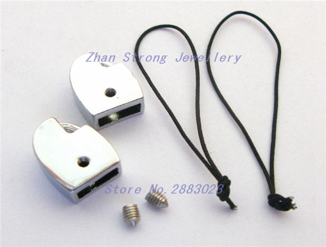 10pcs D head clasp DIY accessory 8mm zinc alloy rhinestone slide Charms Fit 8mm keychain ...
