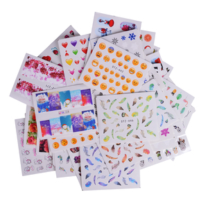 Image 5 - Full Beauty 50pcs Water Transfer Sticker Nails Mixed Designs Nail Art Decorations Colorful Stamp Random Xmas Decals Sets CHM50