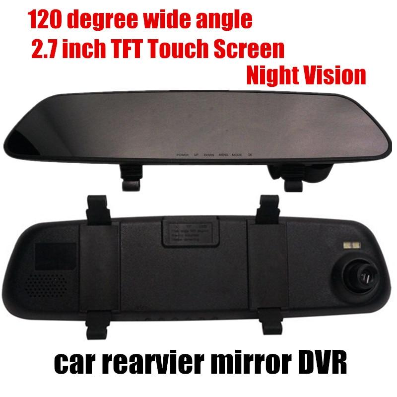 2,7 Zoll Auto Rückspiegel Dvr Video Recorder Comcorder 120 Grad Weitwinkel Nachtsicht Fortgeschrittene Technologie üBernehmen
