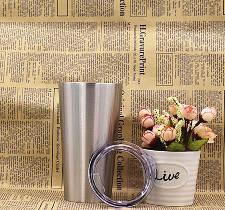 Ev ve Bahçe'ten Kupalar'de 10 adet 16 oz bardak vakum yalıtımlı kupalar Paslanmaz Çelik Kahve Fincanı çift katlı termos Seyahat Şişesi Kupa şeffaf kapaklı'da  Grup 2