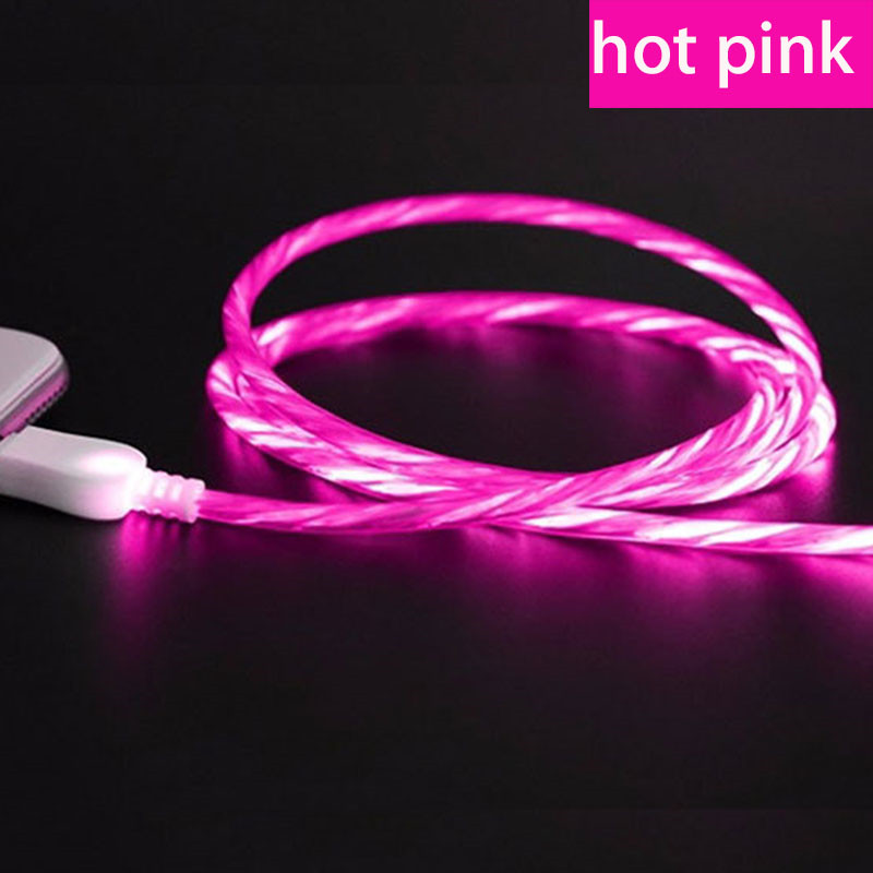 Cellphones & Telecommunications Imported From Abroad Micro Usb Led Luminous Flowing Cable Phone Charger For Huawei P7 P8 P9 Lite/p10 Lite/honor 9 Lite 7x/9i/nova 3i Charging Cord The Latest Fashion Mobile Phone Accessories