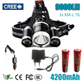 Z30 led Headlight 9000 Lumen 3 T6 headlamp 3x XM-L T6 LED Head Lamp Flashlight head torch Headlamp for camping/hunting/fishing