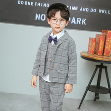 2018 New Arrival Boys Blazers England Style Boy Suits Kids Outfits 3T-6T