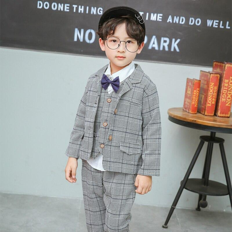 2018 nouveauté garçons Blazers angleterre Style garçon costumes enfants tenues 3 T-6 T