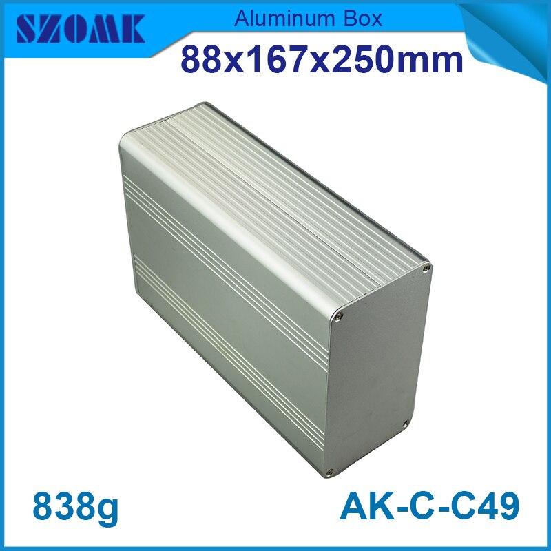 Aluminum Project Box Enclosure Case Electronic DIY 88*167*250mm 3.46*6.57*9.84inch 4pcs a lot diy plastic enclosure for electronic handheld led junction box abs housing control box waterproof case 238 134 50mm