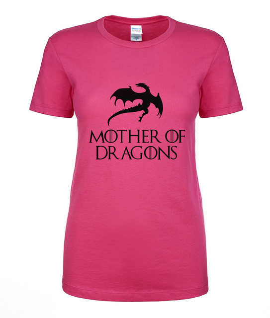 Game Of Thrones Mother of Dragons 100% Cotton  Women's T Shirt