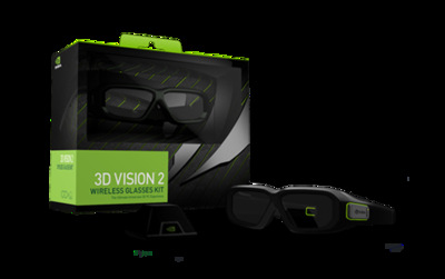 free shipping Nvidia 3d original vision 2 sencond generation wireless stereo vision glasses kit VG278HE VG248QE
