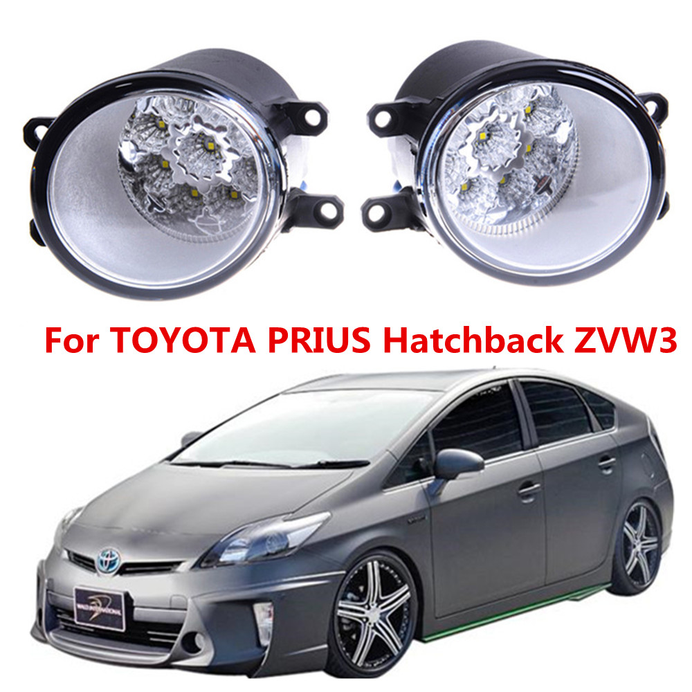 For TOYOTA PRIUS Hatchback ZVW3 2009-2015 Car styling  LED fog Lights high brightness fog lamps 1set for lexus rx gyl1 ggl15 agl10 450h awd 350 awd 2008 2013 car styling led fog lights high brightness fog lamps 1set