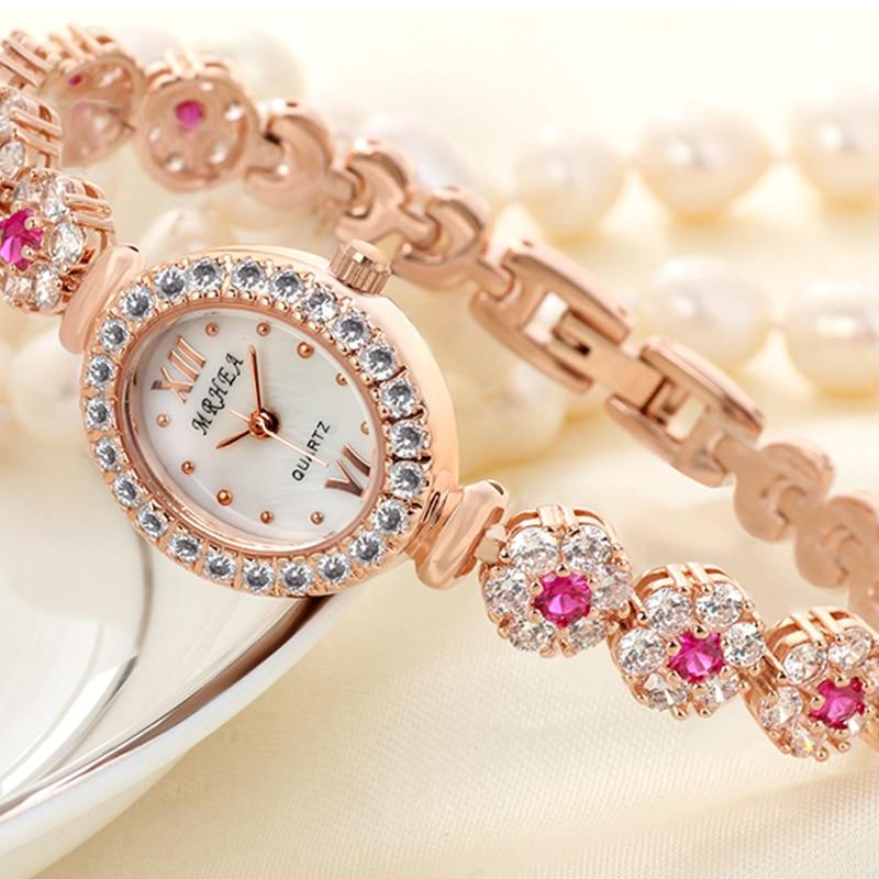 2018 nouvelle montre pour femme mode Bracelet montre diamant strass montre rouge étanche petit cadran montre de mode