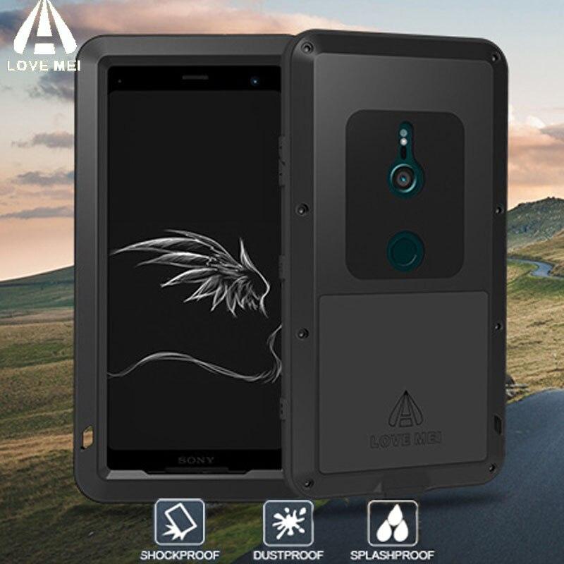 LOVE MEI อลูมิเนียมกรณีโลหะสำหรับ Sony Xperia XZ3 เกราะกันกระแทกฝาครอบกันน้ำสำหรับ Sony Xperia XZ3 Capa โทรศัพท์กรณี-ใน เคสที่ติดตั้ง จาก โทรศัพท์มือถือและการสื่อสารระยะไกล บน