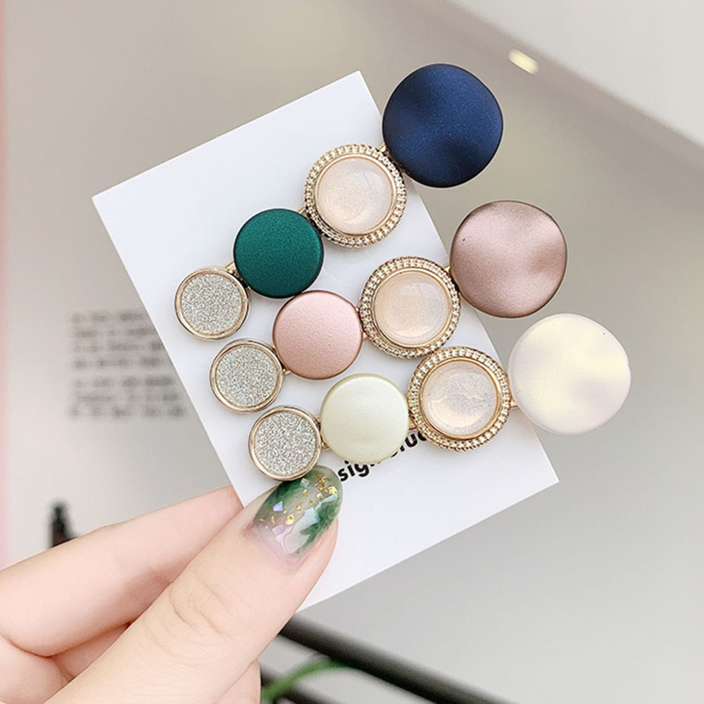 2019 INS Sweet Women Acrylic Round Hairpin Headband Hair Clip Barrettes Hair Ornament Girls Fashion   Headwear   Hair Accessories