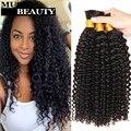 Top 10A Malaysian Braiding Hair Kinky Curly Malaysian Virgin Hair 3 Bundles Vishine Malaysian Human Braiding Hair Bulk No Weft