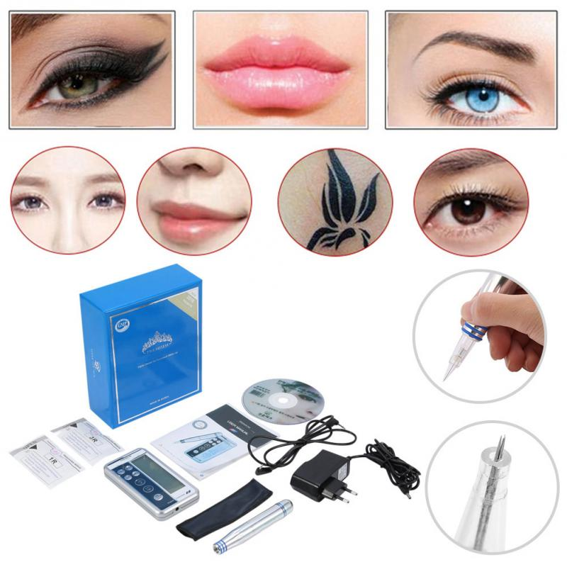 Us 3601 25 Offpermanent Makeup Digital Pen Eyebrow Lip Eyeliner Tattoo Machine Kit With Cartridge Needles Microblading Tattoo Supplies Makeup In