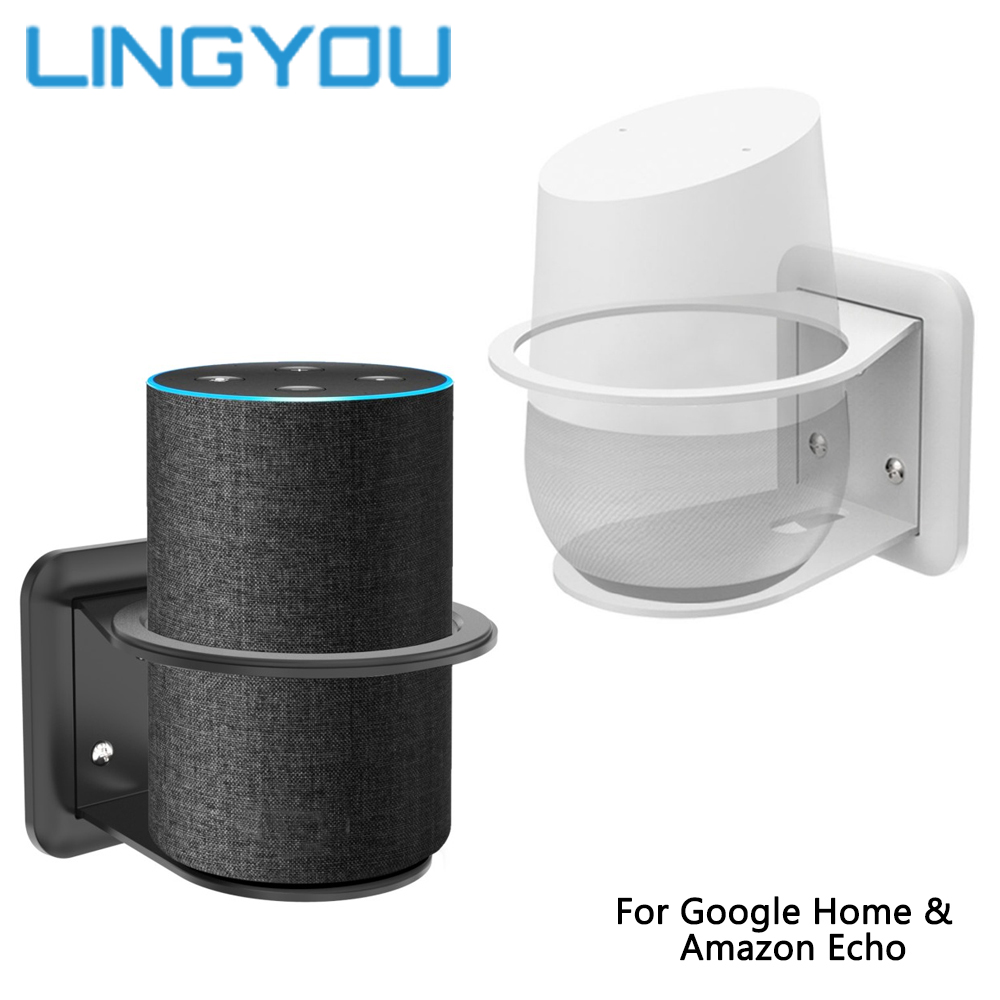 Sturdy Metal Mount Stand Holder For Google Home Extra O-ring Compatible With For Amazon Echo 2nd Generation