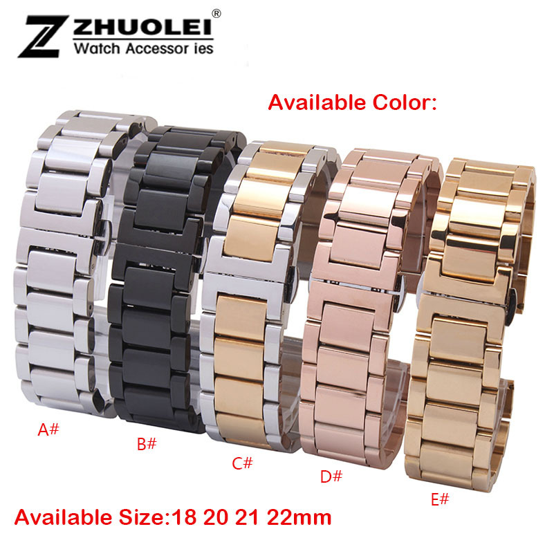 G Watch R Bracelet Watchband 18mm 21mm 22mm 24mm  Men Watch band Stainless Steel Watch Band For LG G Smart Free Watch Tools replacement cowhide leather common watchband 18mm 19mm 20mm 21mm 22mm men wristwatch band bracelet promotion free tools diy hot