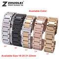 G reloj pulsera R correa 18 mm 21 mm 22 mm 24 mm hombres venda de reloj reloj de acero inoxidable para el LG envío libre inteligente reloj filetea