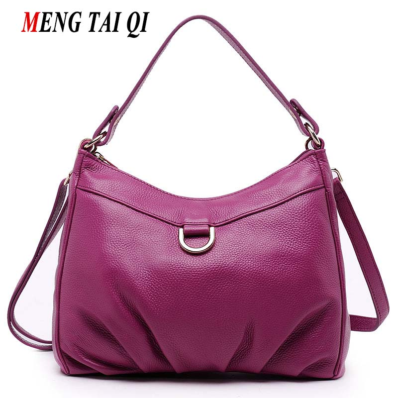 2017 New Arrival Women Messenger Bags Genuine Leather Handbags Vintage Women Shoulder Bags Ladies Luxury Brand Top-Handle Bags 4 2018 new fashion top handle bags women cowhide genuine leather handbags casual bucket bags women bags rivet shoulder bags 836
