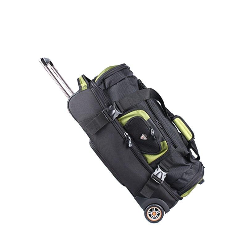 BeaSumore Large Capacity Shoulders Travel Bag 27 32 inch Student Rolling Luggage Backpack Men Business Trolley