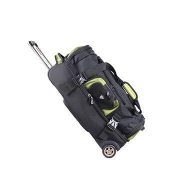 Beasumore grande capacidade ombros bolsa de viagem 27/32 polegada estudante rolando bagagem mochila homens negócios trole malas roda